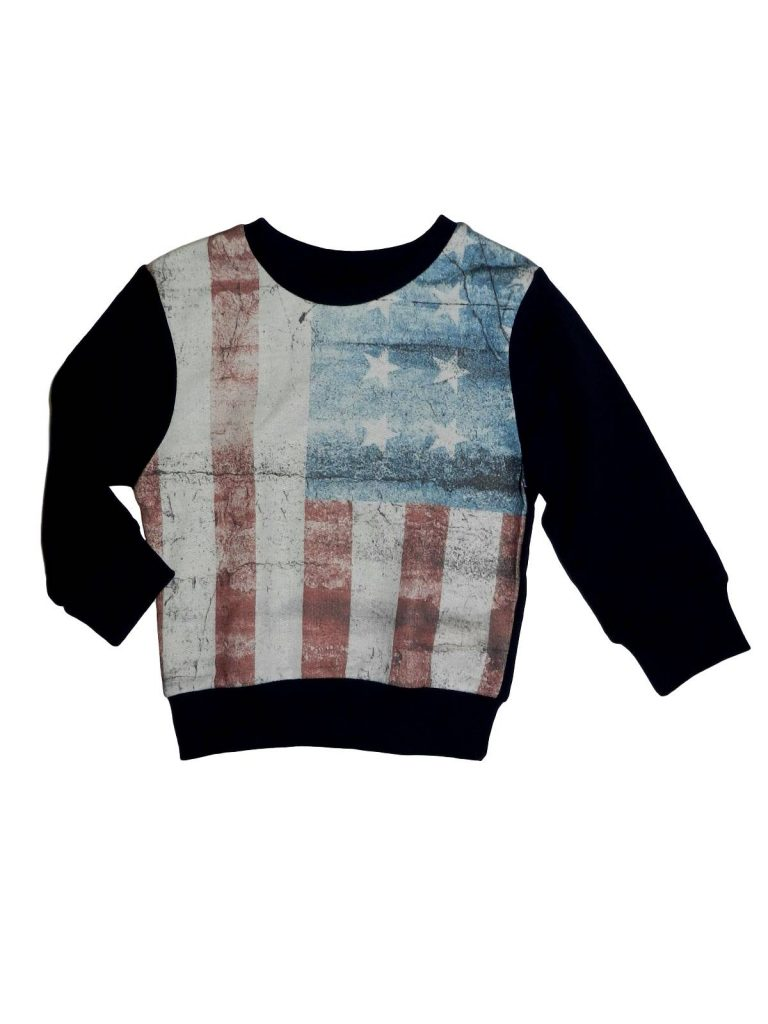 Újszerű Rebel Amerikai zászlós pulóver (92)