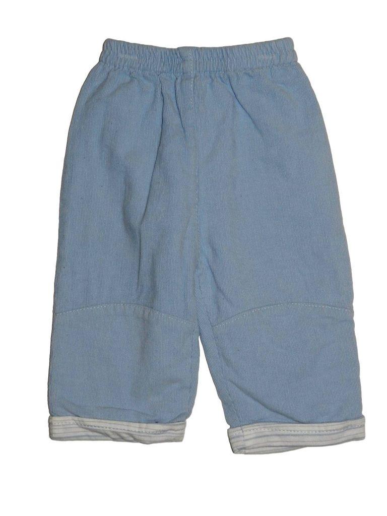 Hibátlan Egyéb márka Bélelt, kék kord nadrág (68-74)
