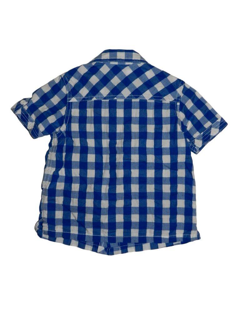 Hibátlan Mini Club Kék-fehér kockás ing (80-86)
