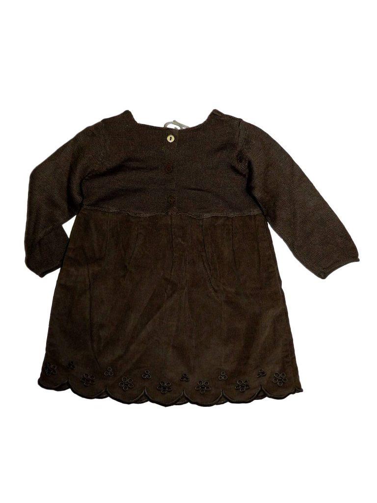 Újszerű Egyéb márka Barna kord ruha béléssel (68)