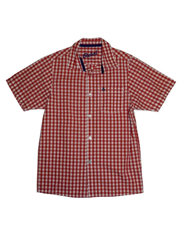 Újszerű Rebel Piros-fehér kockás ing (146-152)