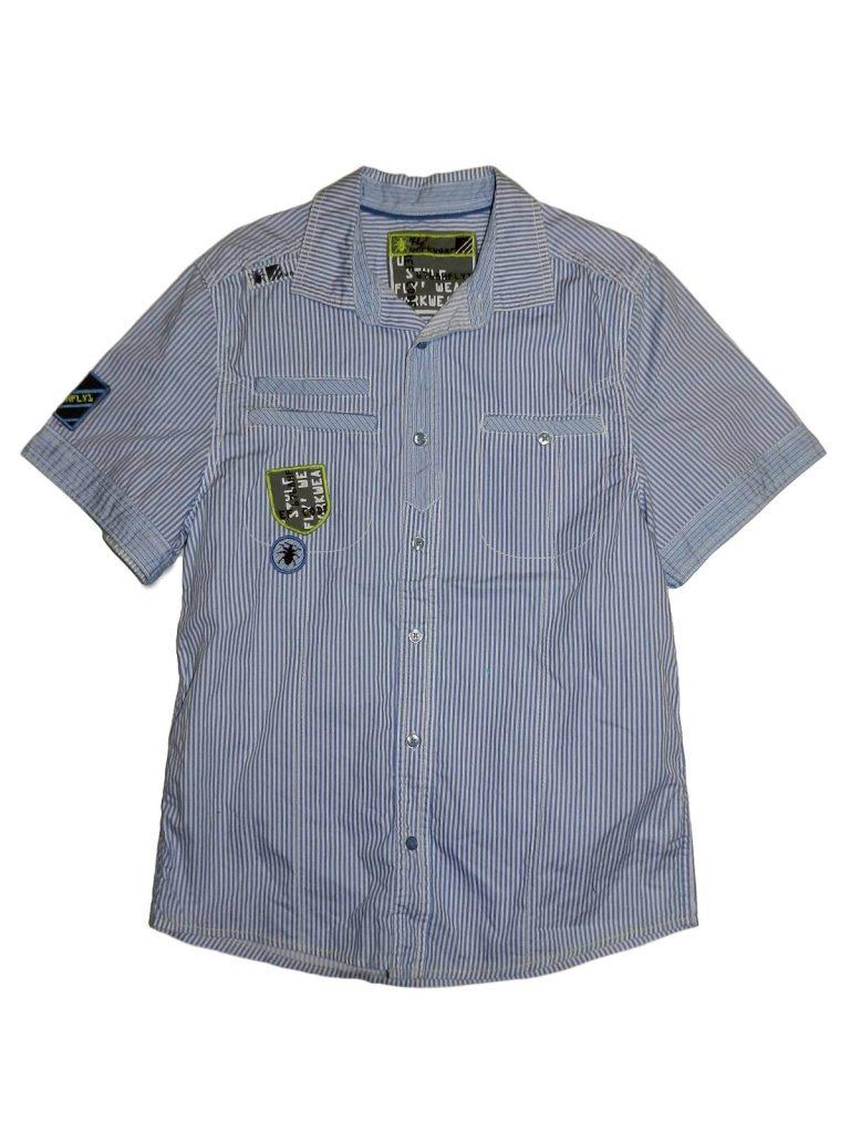 Hibátlan Cherokee Kék-fehér csíkos ing (158-164)