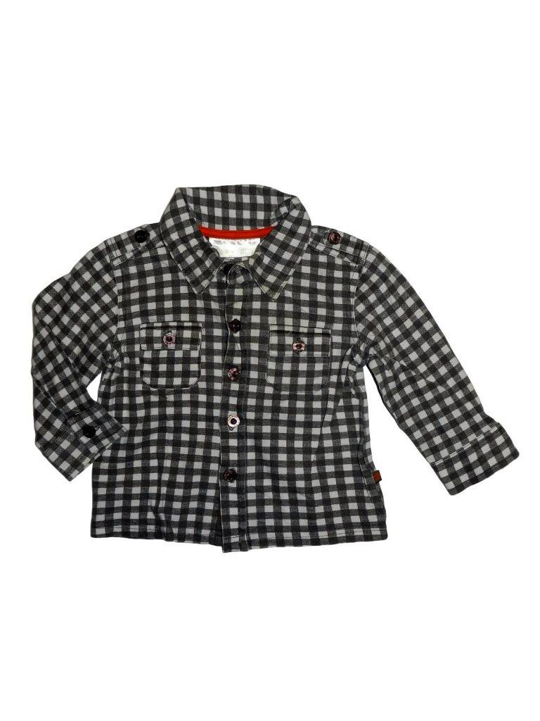 Hibátlan Egyéb márka Kockás, hosszú ujjú ing (74-80)