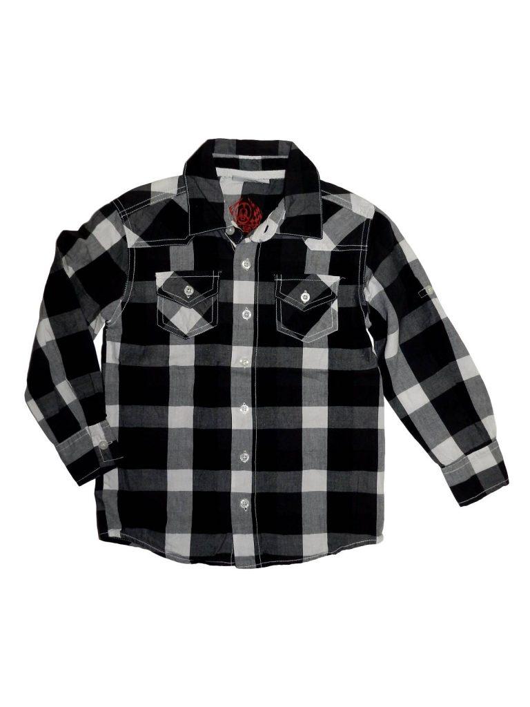 Hibátlan Egyéb márka Fekete-fehér kockás ing (116)