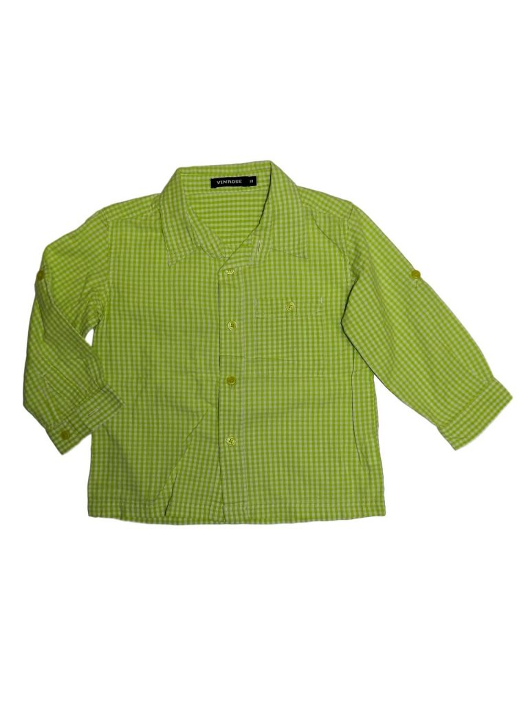 Jó állapotú Egyéb márka Zöld-fehér kockás ing (98)