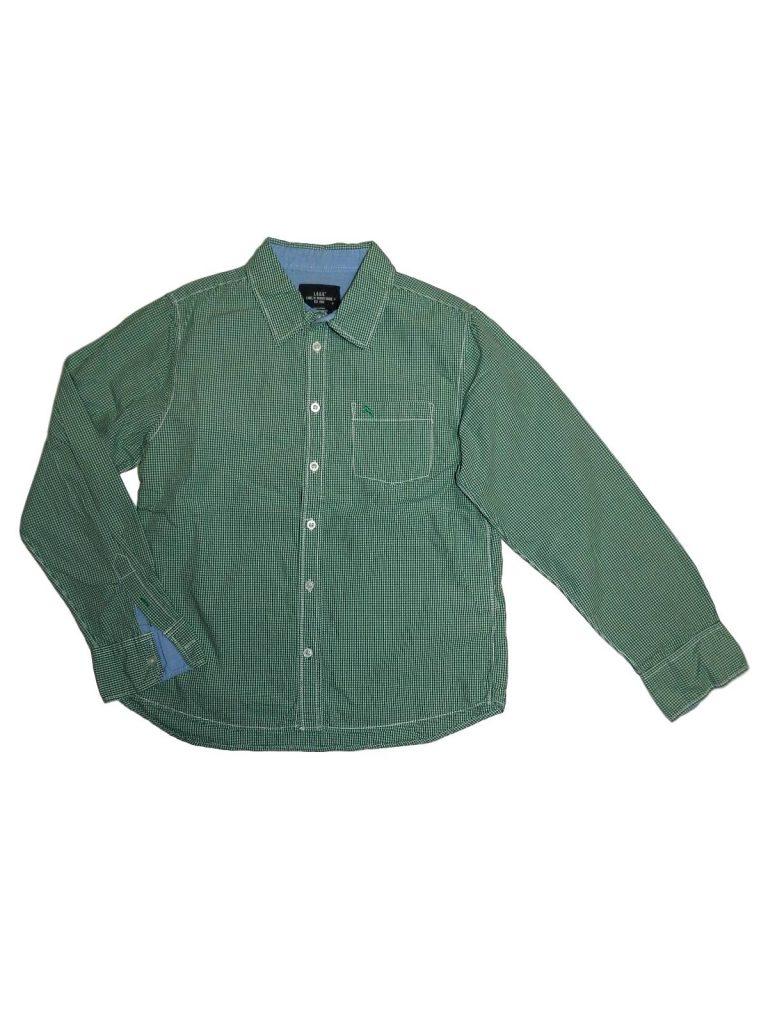 Újszerű H&M Apró kockás, zöld ing (158)