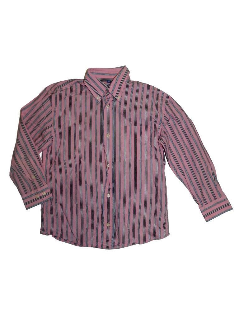 Hibátlan Egyéb márka Rózsaszín, csíkos ing (128-134)