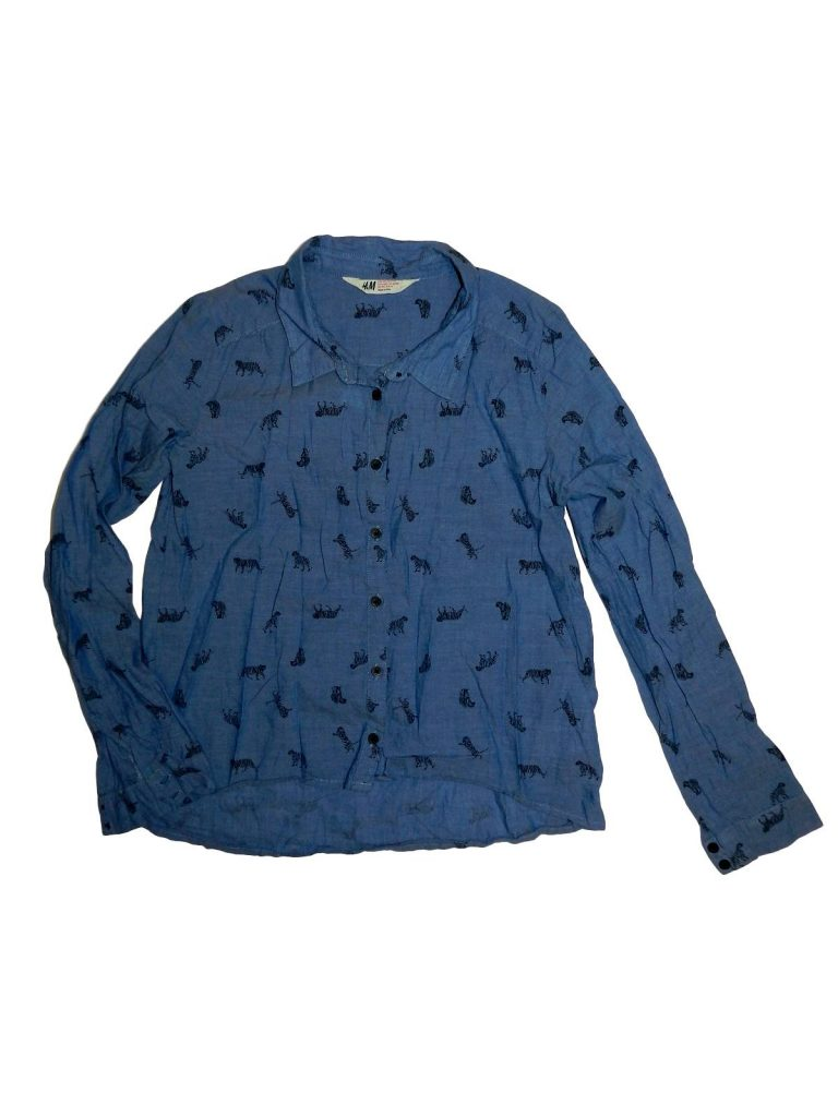 Újszerű H&M Tigrismintás ing (158)