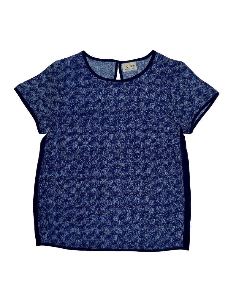 Újszerű Next Kék, mintás felső (152)