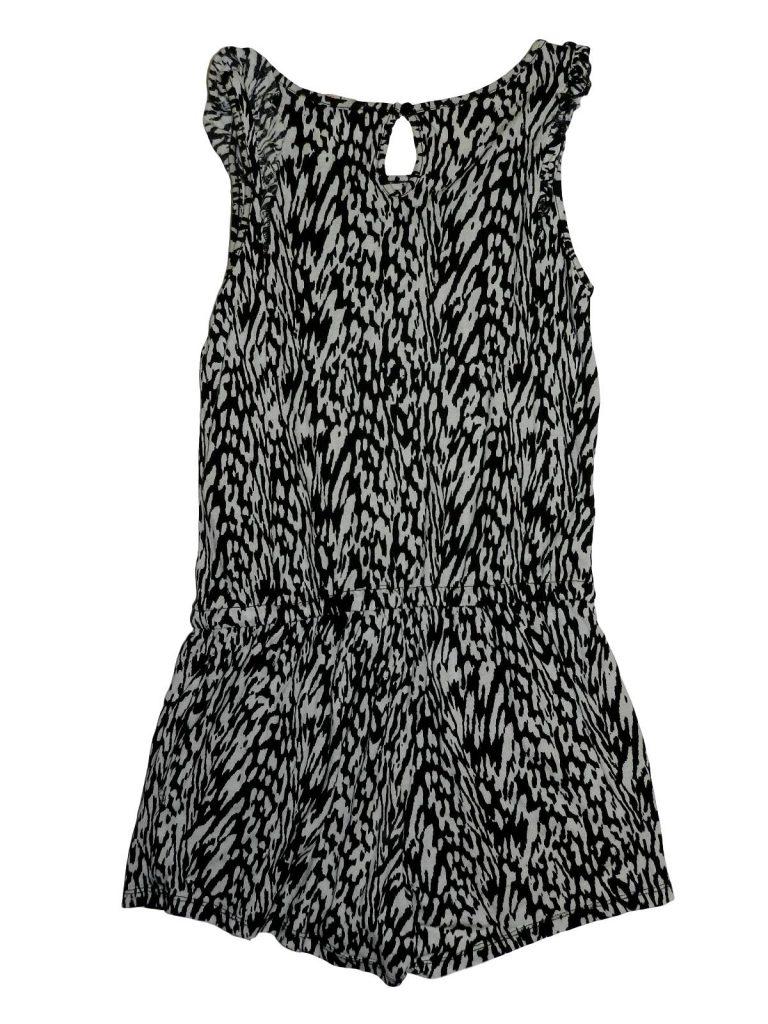 Újszerű H&M Fekete-fehér mintás playsuit (146)