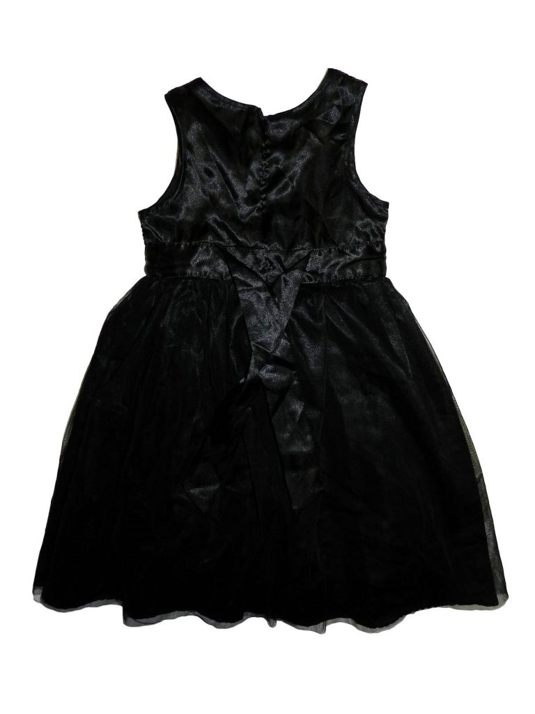 Újszerű F&F Fekete, flitteres tüll ruha (128-134)