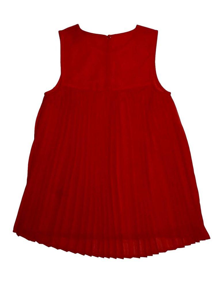 Újszerű George Piros strasszos ruha (128-134)
