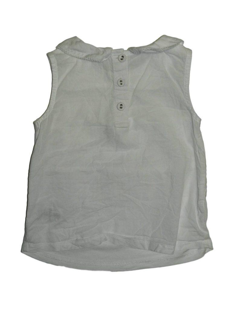 Hibátlan Next Fehér pamut, zsebes felső (80-86)
