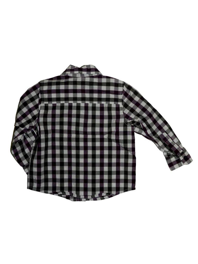 Újszerű Marks & Spencer Lila-szürke kockás ing (80-86)