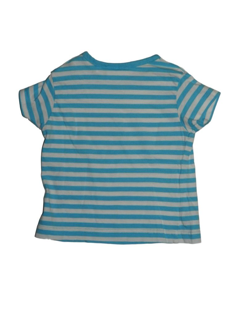 Hibátlan Egyéb márka Kék-fehér csíkos póló (62-68)