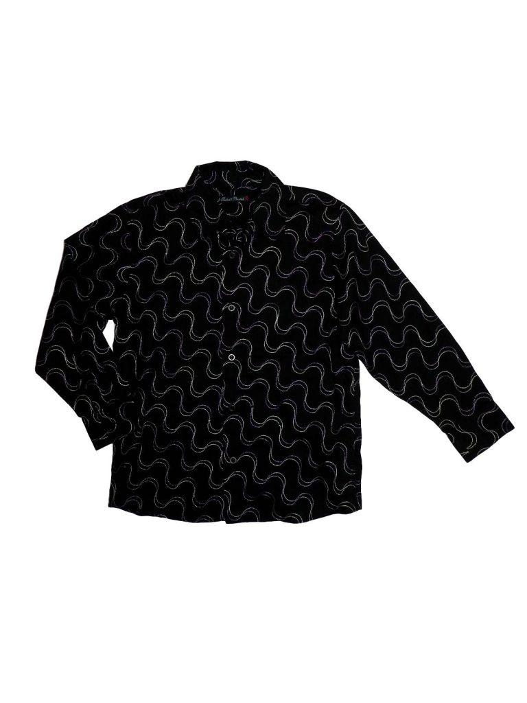 Hibátlan Bhs Fekete, hímzett ing (134-140)