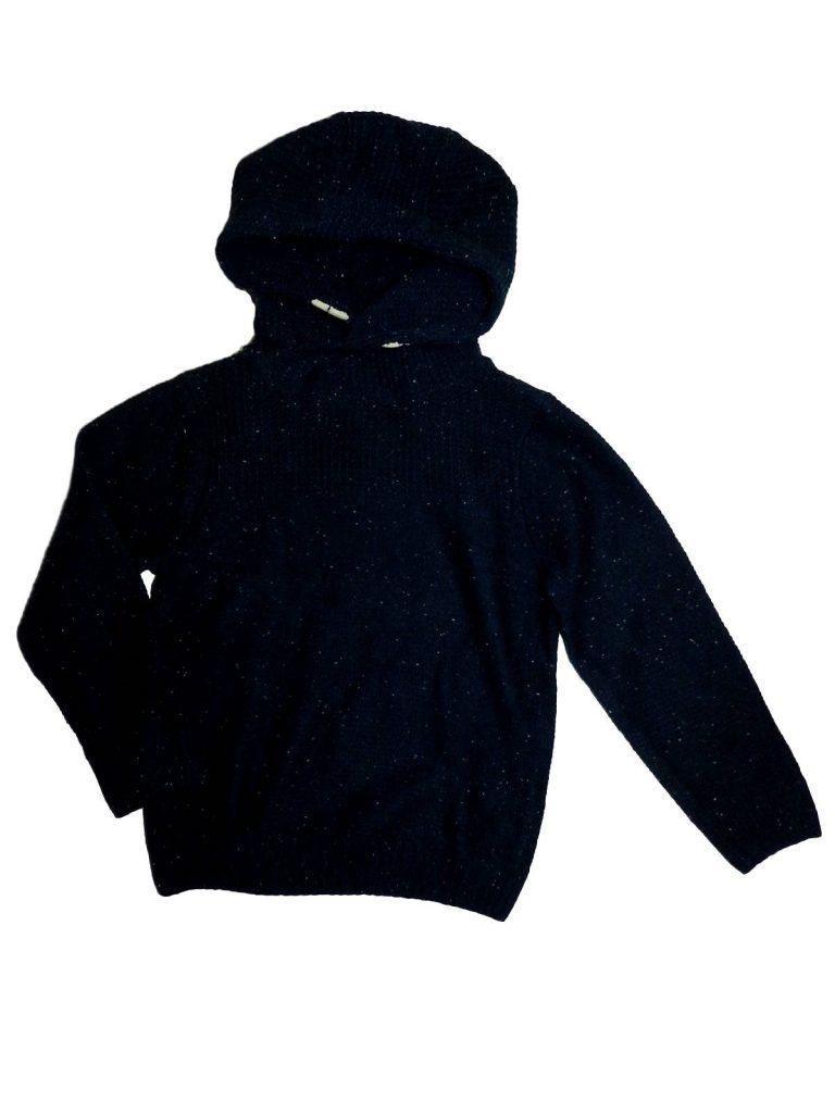 Újszerű F&F Kék, kötött pulóver (128-134)