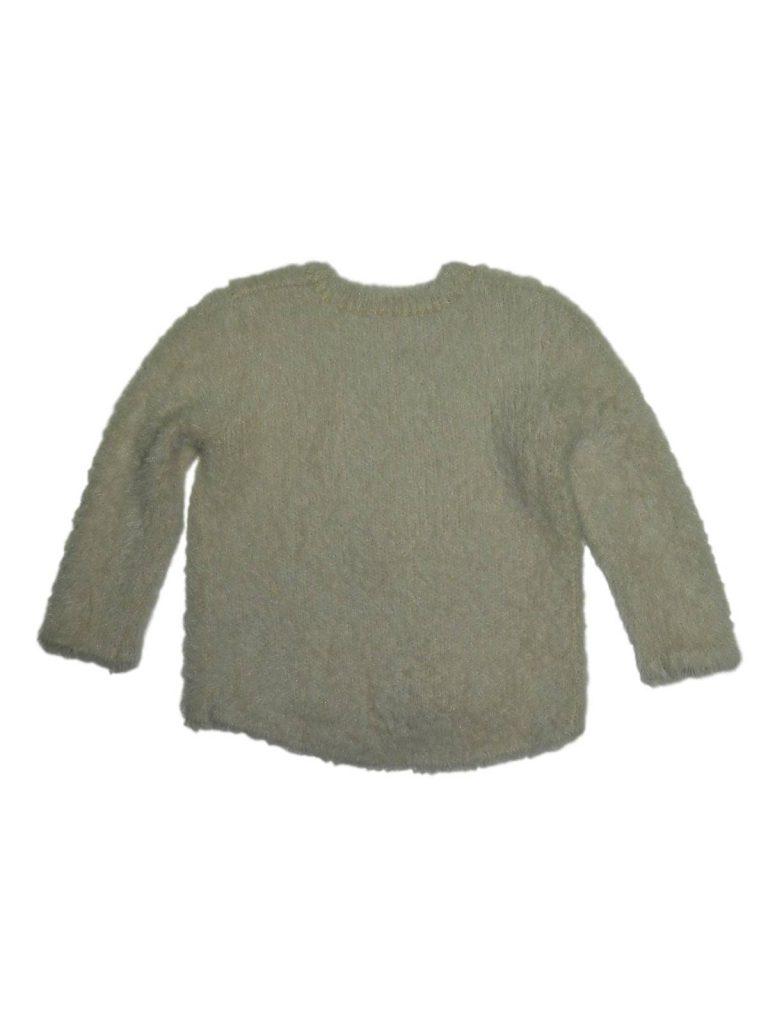 Újszerű Matalan Cicás, flittetes pihe-puha pulóver (80-86)