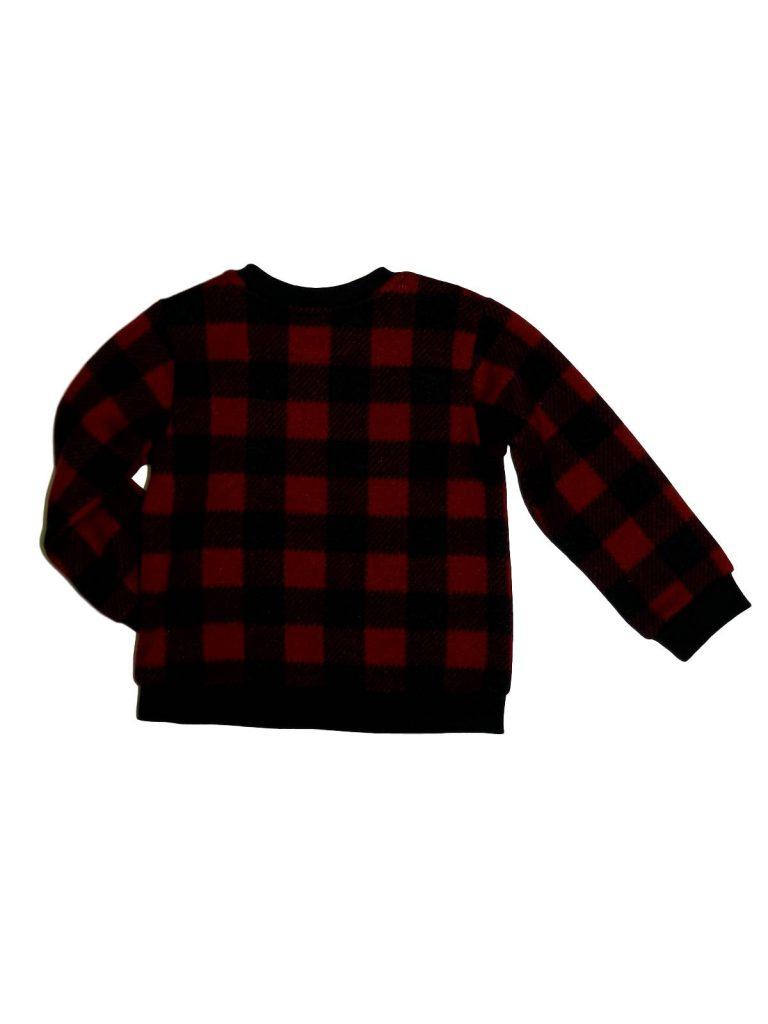 Új / Outlet Nutmeg Piros-fekete kockás pulóver (86-92)