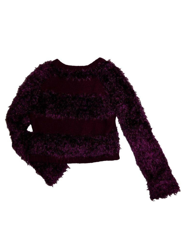 Hibátlan M&Co Lila, szőrös pulóver (134-140)