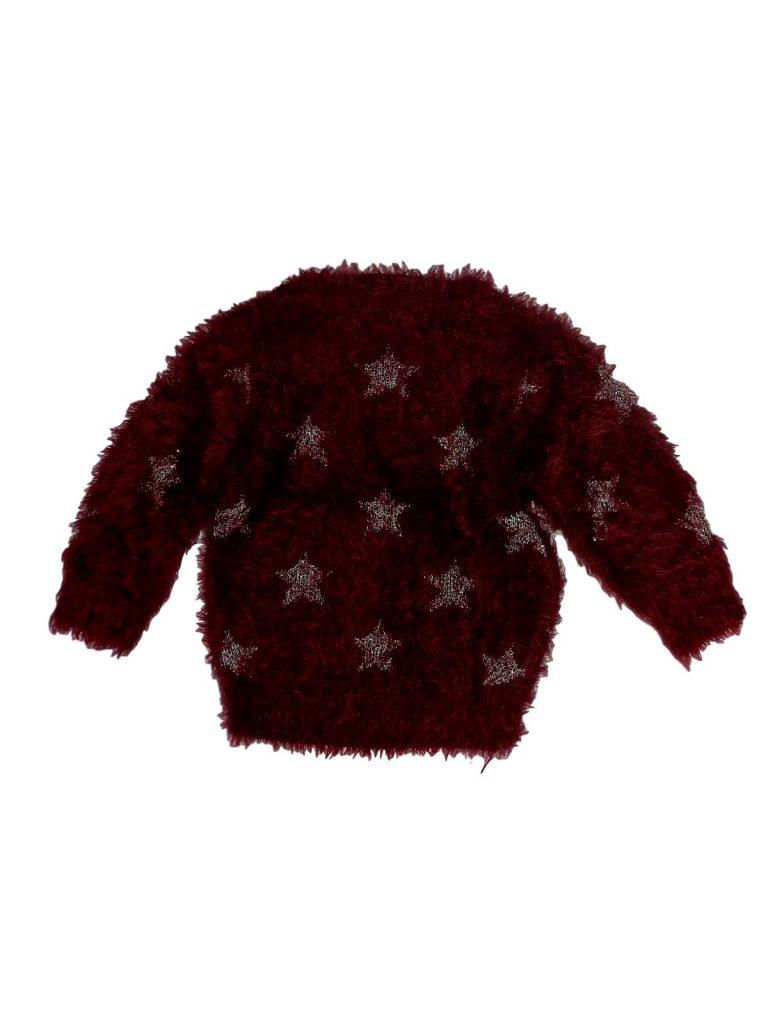 Hibátlan Marks & Spencer Csillagos, szőrős pulóver (80-86)