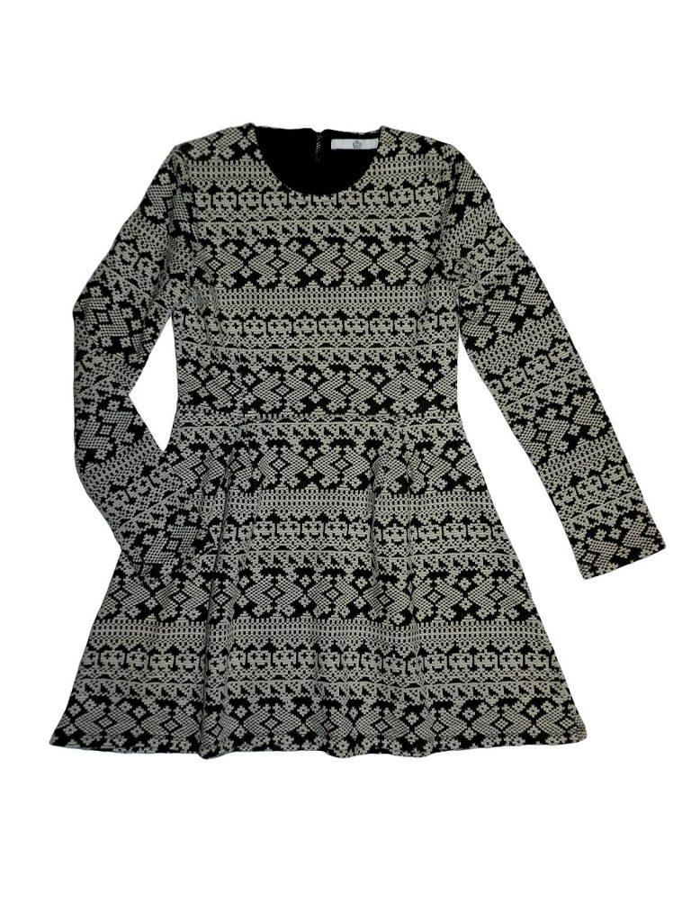 Újszerű Marks & Spencer Fekete-fehér, mintás ruha (140-146)