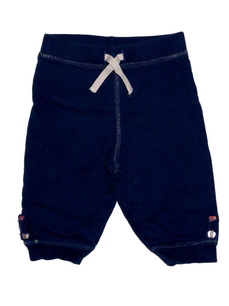 Újszerű Debenhams Gombos szárú, kék nadrág (68-74)