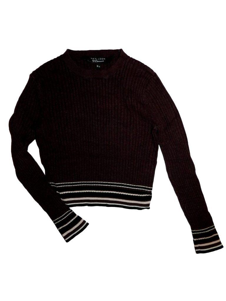 Hibátlan New Look Rövid fazonú kötött pulóver (140-146)