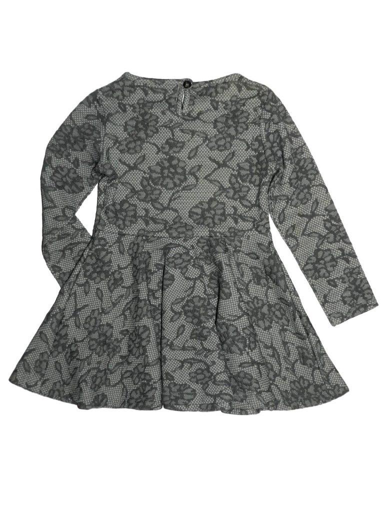 Újszerű F&F Virágmintás, szürke ruha (86-92)