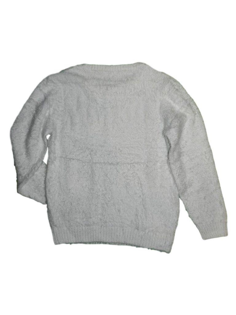 Újszerű George Flitteres szíves fehér pulóver (146)