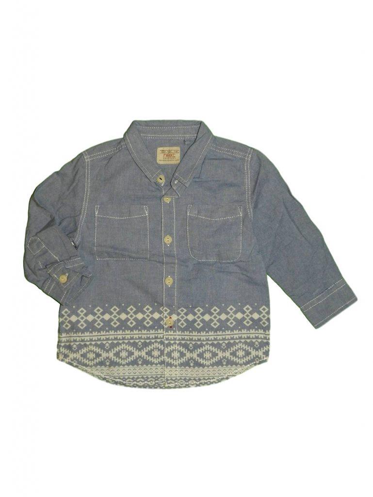 Jó állapotú Next Mintás, kék ing (80-86)
