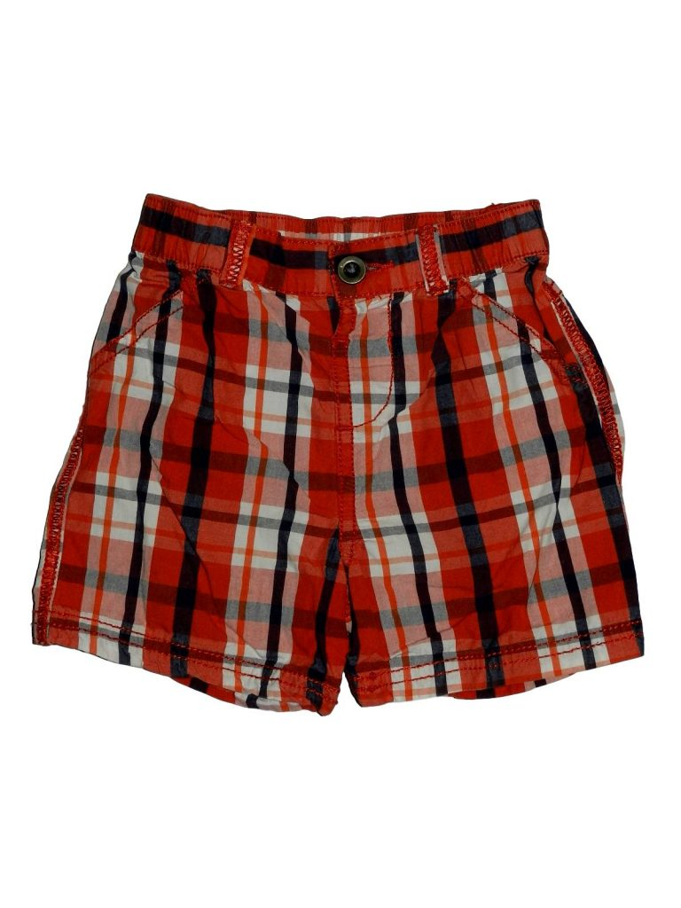 Hibátlan F&F Piros kockás rövidnadrág (74-80)