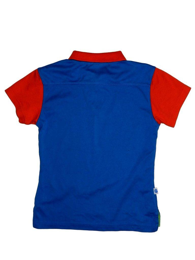 Hibátlan Egyéb márka Kék-piros, galléros póló (134-140)