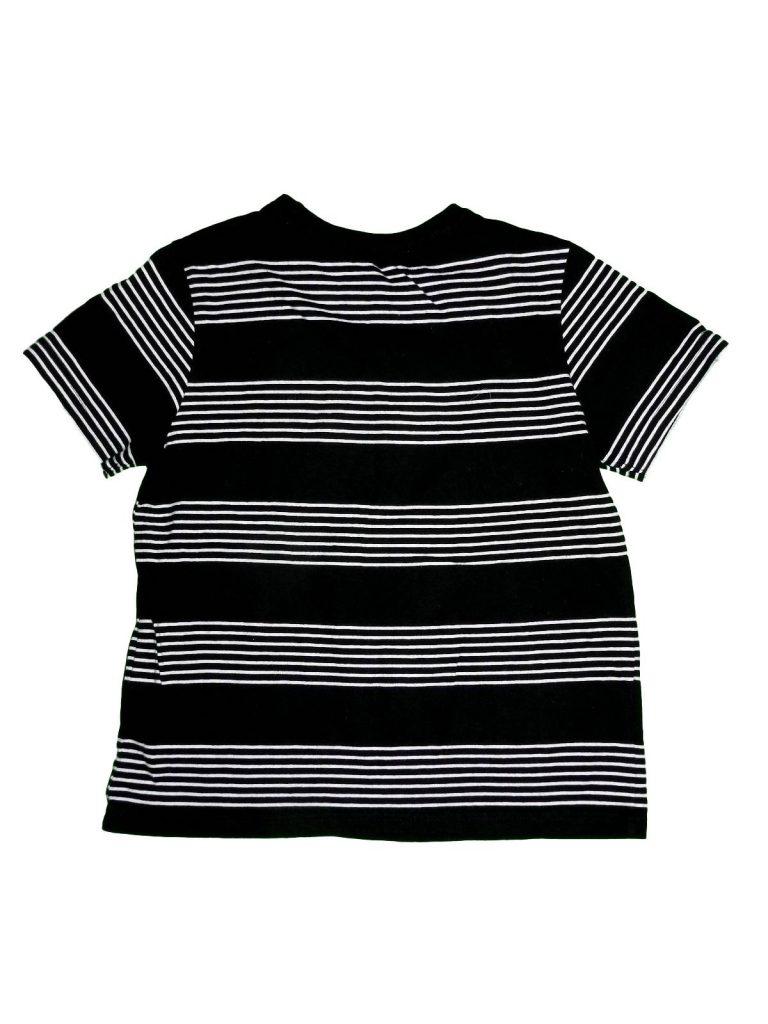 Hibátlan Rebel Fekete-fehér csíkos póló (128-134)