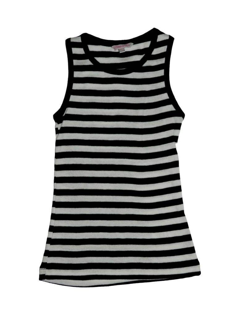 Újszerű Miss E-vie Fekete-fehér, csíkos trikó (122-128)