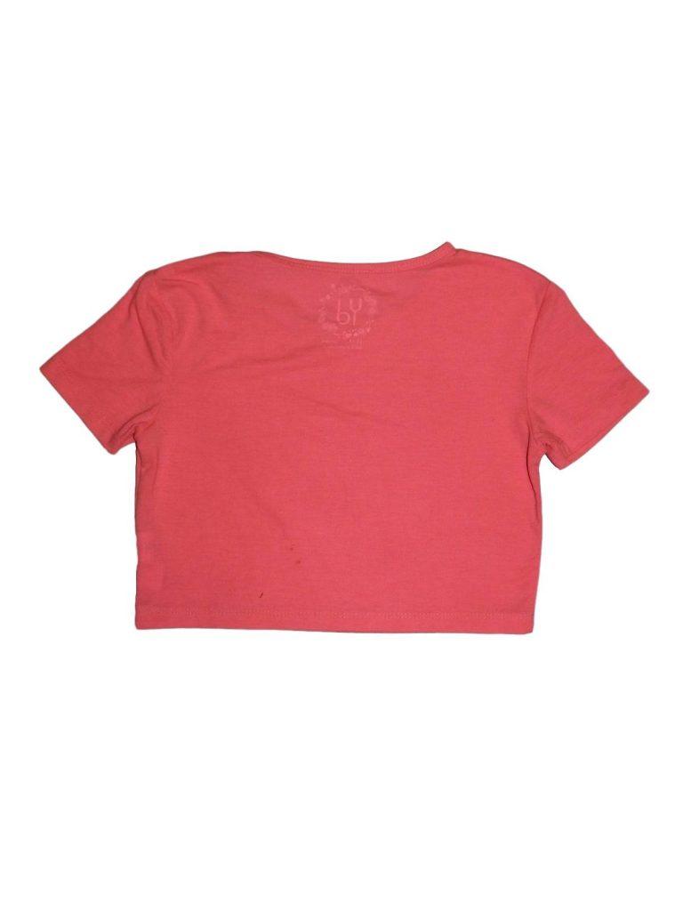Jó állapotú Young Dimension Rózsaszín rövid felső (152-158)
