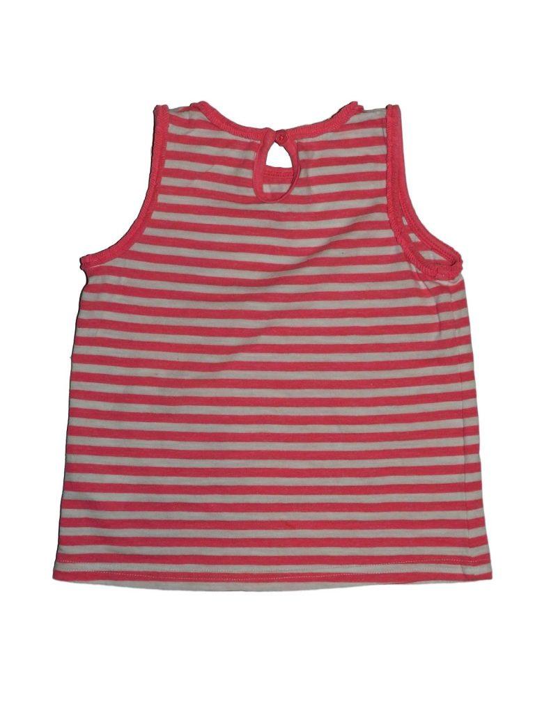 Jó állapotú Matalan Rózsaszín csíkos trikó (98-104)