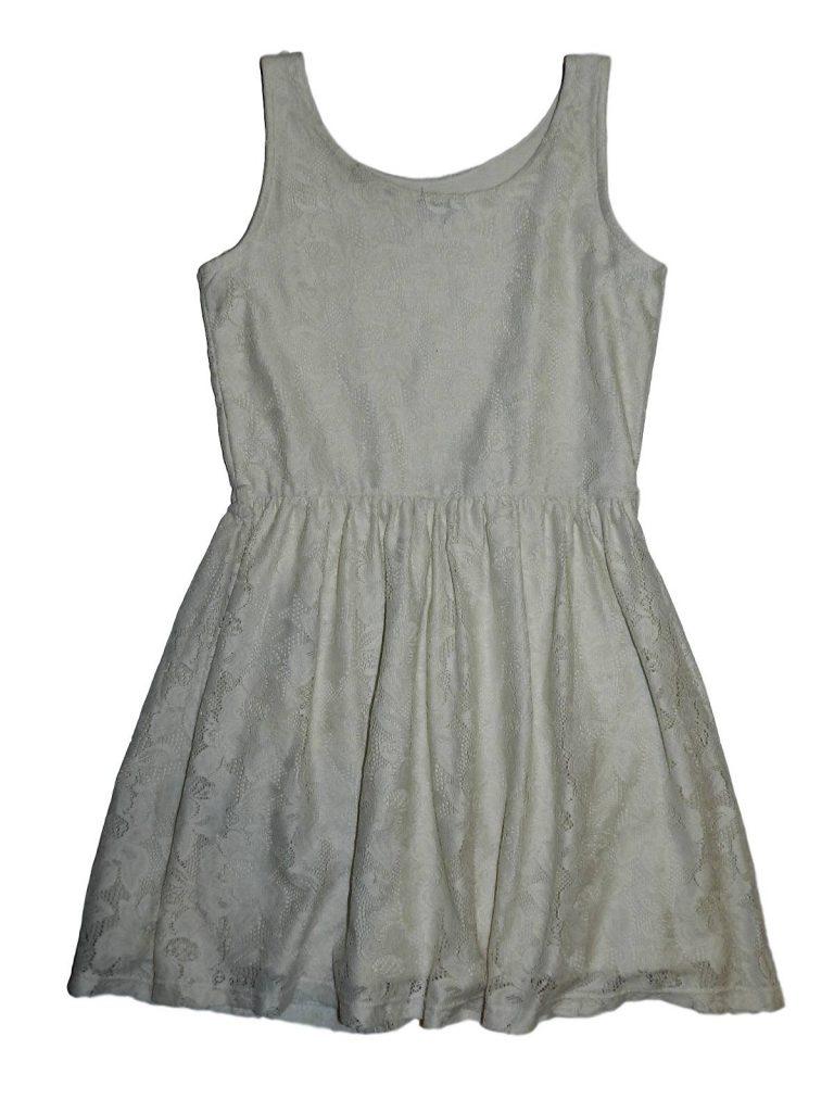 Hibátlan F&F Csipkés fehér ruha (140-146)
