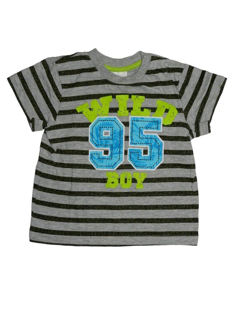 Hibátlan Egyéb márka Csíkos, feliratos póló (86)
