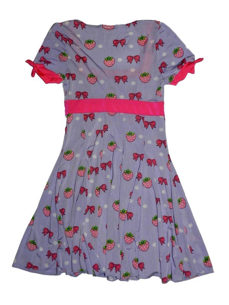 Hibátlan Egyéb márka Masnis epres lila ruha (146-152)