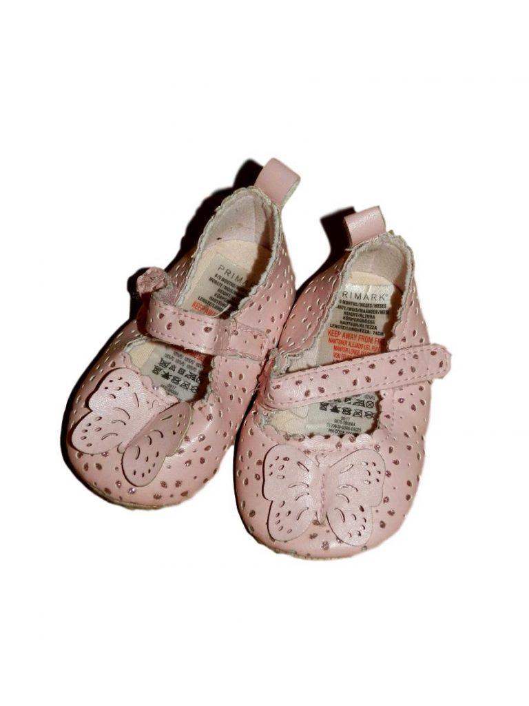 Hibátlan Egyéb márka Pillangós, csillámos kocsicipő (68-74)