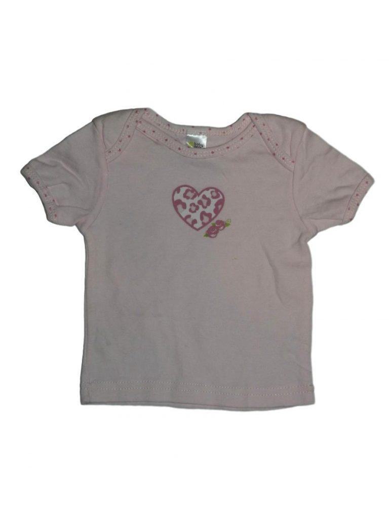 Hibátlan Egyéb márka Rózsaszín, szíves felső (62-68)