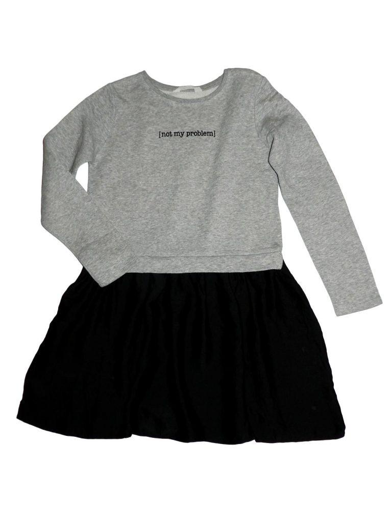 Hibátlan H&M Szürke-fekete ruha/tunika (146-152)