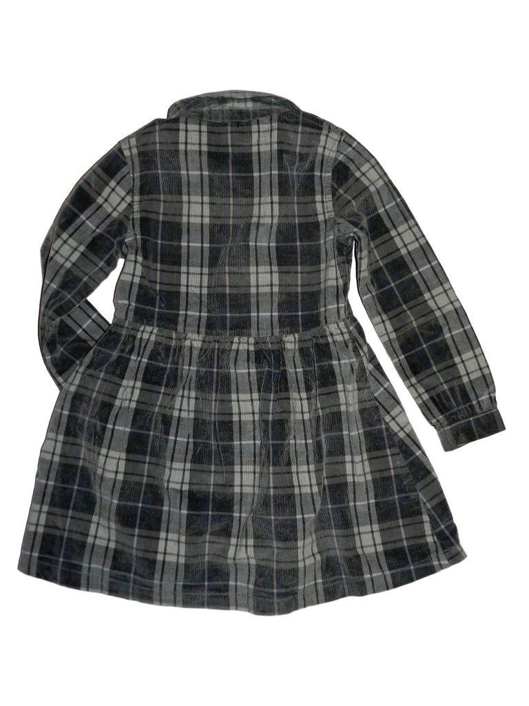 Jó állapotú F&F Kockás kord ruha (116)