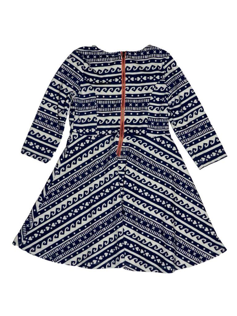 Hibátlan Egyéb márka Kék-fehér mintás ruha (122-128)