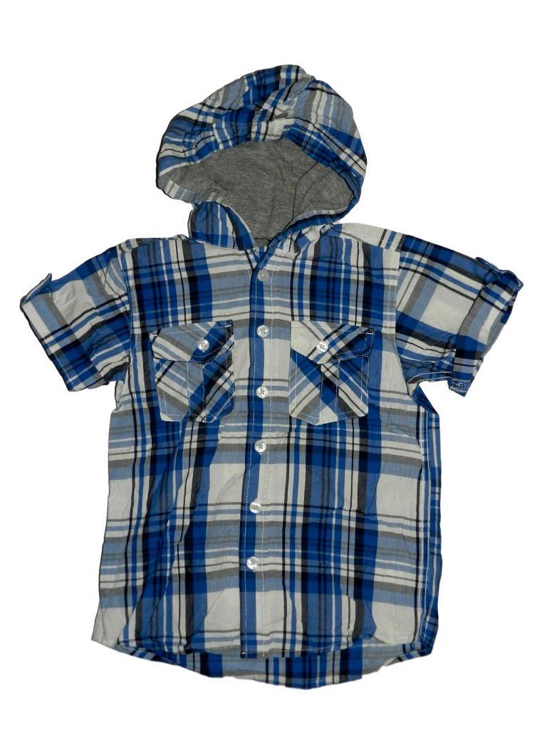 Hibátlan George Kék-fehér csuklyás ing (116-122)