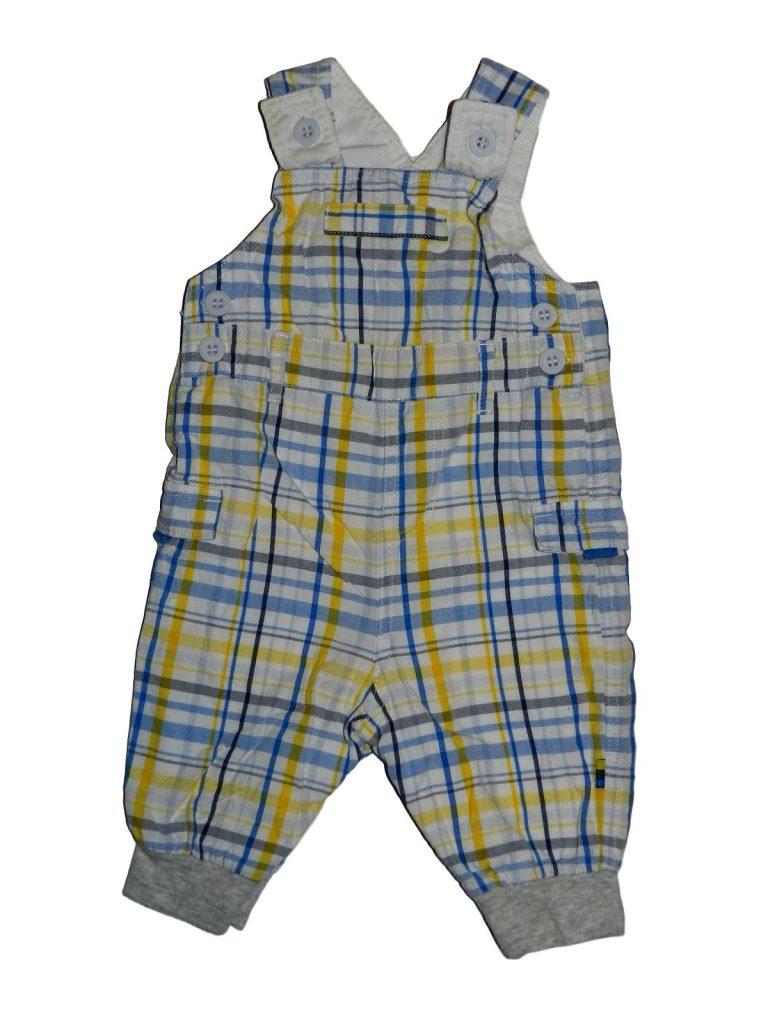 Hibátlan Mothercare Kockás kantáros nadrág (56-62)