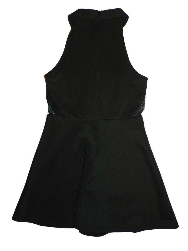 Hibátlan New Look Csipkés, fekete alkalmi ruha (140-146)