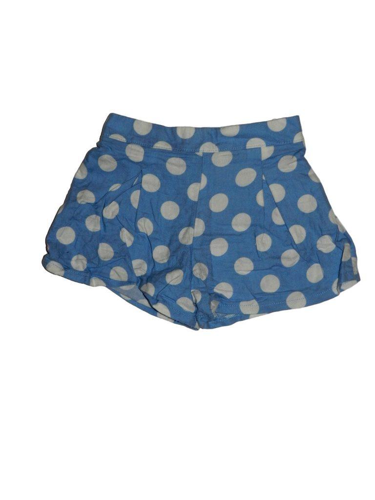 Újszerű F&F Kék-fehér pöttyös short (74-80)