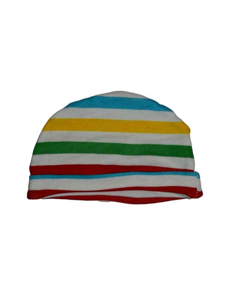 Hibátlan Egyéb márka Csíkos, színes sapka (62-68)